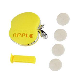 ครีเอทีฟ Apple รูปทรงรถระบายอากาศสดชื่นน้ำหอมปรับอากาศกลิ่นสีเหลือง