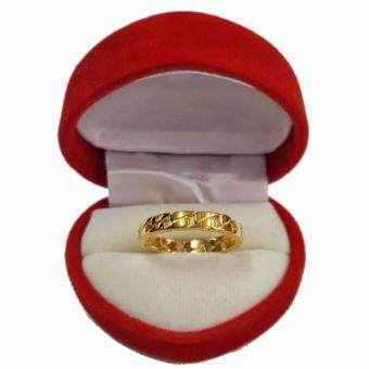 Little Saint Silver.แหวน ทองเหลืองหุ้มทอง ฉลุลาย