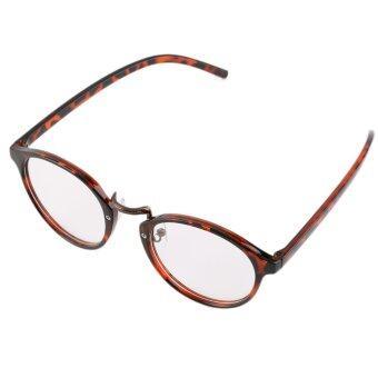 โอ้ Allwin เรโทรวินเทจแฟชั่นเด็กเรียนเฉิ่มมาก ๆ ล้างเลนส์แว่นตากรอบพิมพ์เสือดาว