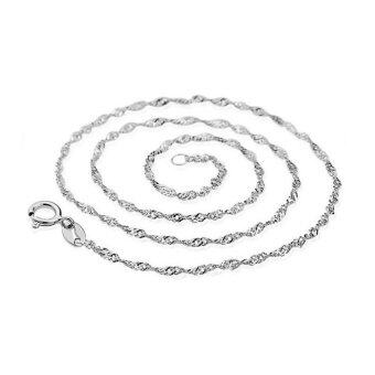 TANITTgems สร้อยคอทองคำขาวลาย Spiral