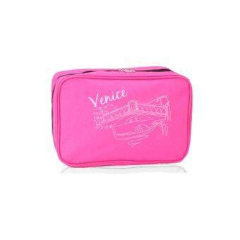 Dundes Toiletry Bag กระเป๋าใส่อุปกรณ์อาบน้ำ - สีชมพู