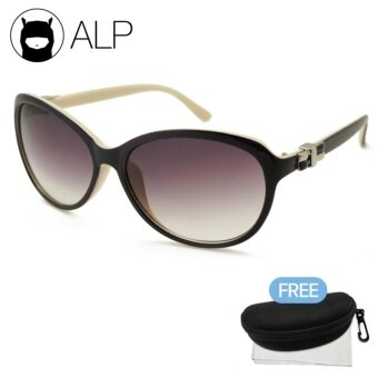 ALP Sunglasses แว่นกันแดด Oval Style รุ่น ALP-0071-PUS-BRG (Purple/Brown)