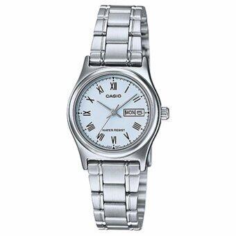 CASIO LTP-V006D-2BUDF หน้าปัดสีฟ้า นาฬิกาแฟชั่นคุณผู้หญิง