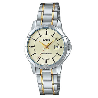 Casio standard Lady นาฬิกาข้อมือผู้หญิง สองกษัตริย์ สายสแตนเลส รุ่น LTP-V004SG-9AUDF