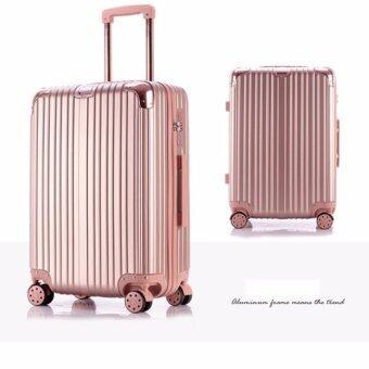 DC SHOP กระเป๋าเดินทาง รุ่น127 สีชมพู 24''