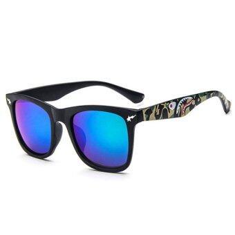 Man style Sunglasses แว่นตากันแดด รุ่น 15929 C5 (Green/Black)