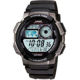 CASIO นาฬิกาข้อมือผู้ชาย สายเรซิน รุ่น AE-1000-1B - Black