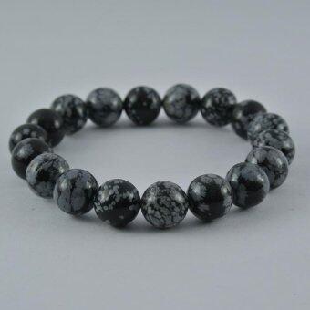 Pearl Jewelry กำไลหินสโนว์เฟค S43