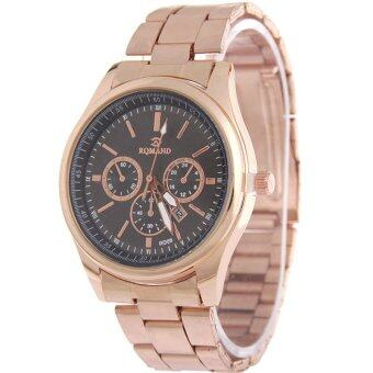 MEGA Calendar Wristwatch ปฏิทินนาฬิกาข้อมือผู้หญิง-ชาย สาย Stainless รุ่น MG0005 (Black)