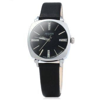 จูเลียสจ๋า-388 คล้ายคลึงหนังนาฬิกาควอทซ์หญิงเรืองแสงชี้สีดำ