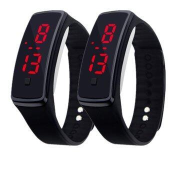 Person Led Watch รุ่น L2 (Black) นาฬิกาข้อมือ (แพ็คคู่ 2 ชิ้น)