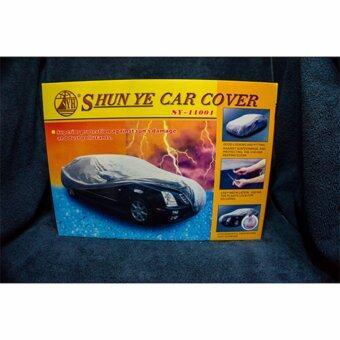 d1sport X Shunye Car cover ผ้าคลุมรถเก๋ง size L ( สีเงิน )