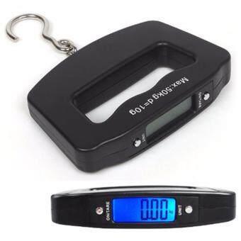 เครื่องชั่งน้ำหนัก เครื่องชั่งกระเป๋า ดิจิตอล แบบพกพา Electronic LCD Luggage Scale 50Kg/10g (Black)