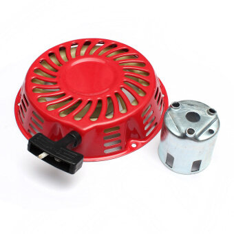 Red Metal Pull Starter Recoil With Flange Cup For Honda GX340 11HP & GX390 13HP ราคาถูกที่สุด ส่งฟรีทั่วประเทศ