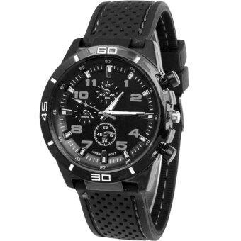 MEGA Sport Quartz Fashion F1 Racing Luxury Watch Military Army Wristwatches หรูหรานาฬิกาข้อมือ สายหนัง กันน้ำ รุ่น MG0017 (Black)