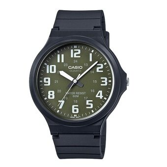 Casio Standard นาฬิกาข้อมือผู้ชาย สายเรซิ่น MW-240-3BV