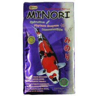 MINORI อาหารปลาคาร์พเกรดพรีเมี่ยม - สูตรเสริมเอนไซม์ไฟเตส - เม็ดเล็ก ขนาด 1.8 กก.