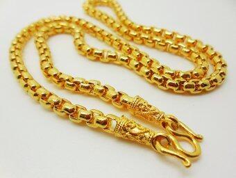 Thai Jewelry สร้อยคอทอง งานชุบทองไมครอน ชุบด้วยเศษทองคำแท้ 96.5% หนัก 1 บาท 2 สลึง ยาว 18 นิ้ว ขนาด 3.5 มิล