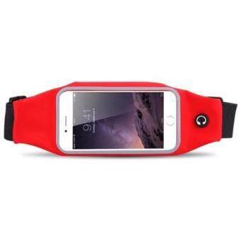กระเป๋าคาดเอว สำหรับใส่ออกกำลังกาย กันน้ำได้ หน้าจอ 5.5 นิ้ว (สีแดง)