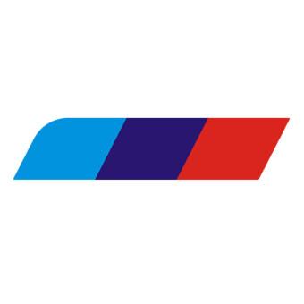 โอนิวสไตล์ 3 สีรถสติกเกอร์ท้ายรถสติ๊กเกอร์สำหรับ BMW 3s/5s/X1/X3M แฟชั่น