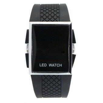 นาฬิกาข้อมือสายหน้าปัดดิจิตัล LED ซิลิโคนแฟชั่นสตรี 1 เรือน