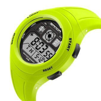 2559 คุณภาพสูงซานดา 331 เด็กนักเรียนประถมนาฬิกากันน้ำเคลือบสีกีฬา (สีเขียว)