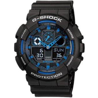 Casio G-Shock นาฬิกาข้อมือผู้ชาย สีดำ สายเรซิ่น รุ่น GA-100-1A2 ประกันศูนย์CMG