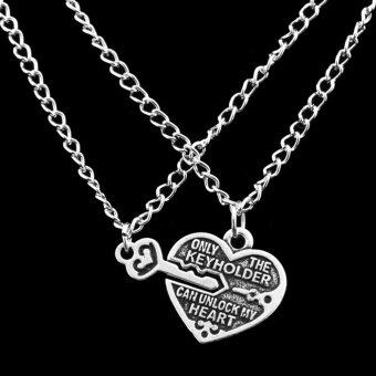 Harga Jetting Buy 1pair Chic Best Friends Necklaces Key Heart Pendant Chain Necklaces Friendship silver