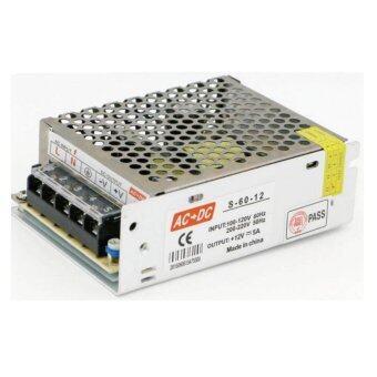 DJSHOP Switching Power Supply สวิตชิ่งเพาเวอร์ซัพพลาย 12V 5A 60W(สีเงิน)