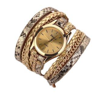 2559 ใหม่นาฬิกาสร้อยข้อมือสร้อยข้อมือนาฬิกาผู้หญิง (ทอง)