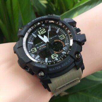 D-ZINER นาฬิกาข้อมือ รุ่น DZ8143 สายเขียวขี้ม้าอ่อน