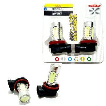 LED หลอดไฟหน้า รถยนต์ มอเตอร์ไซค์ H 11 แสงสีบลูไอซ์