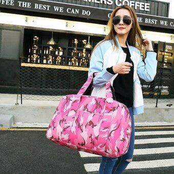 Little Bag กระเป๋าเดินทางใบเล็ก กระเป๋าเดินทางสะพายไหล่ กระเป๋าเดินทาง travel bag รุ่น LT-0008 (สีชมพูเข้ม)