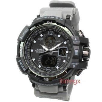D-ZINER นาฬิกาข้อมือผู้ชาย สายซิลิโคน รุ่น DZ-8089 (สีดำเทา)