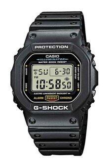 Casio G-Shock นาฬิกาผู้ชาย สายเรซิ่น รุ่น DW-5600E-1 - สีดำ
