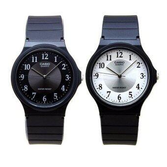 Casio Standard นาฬิกาข้อมือ ชาย/หญิง สายเรซิน รุ่น MQ-24-1B3 และ MQ-24-7B3 สีดำ/ขาว