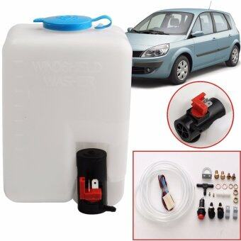 Harga 12V 1.8L Universal Car Windshield Washer Reservoir Pump Bottle Kit Jet Switch - intl