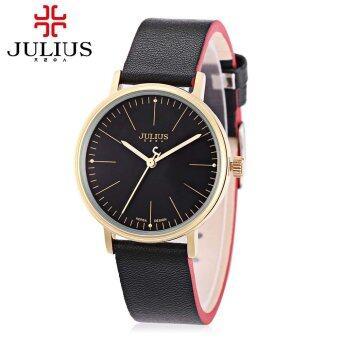 จูเลียสจ๋า-814ลิตรนาฬิกาควอทซ์สายหนังแท้หญิงเรืองแสงชี้ 3ATM นาฬิกาข้อมือ