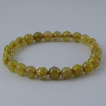 Pearl Jewelry กำไลหินไหมทอง S38