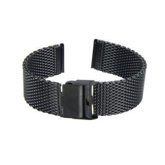 22มม.สร้อยข้อมือสายนาฬิกาสเตนเลสสำหรับกรวดเวลานาฬิกาอัจฉริยะ+เครื่องมือสีดำ