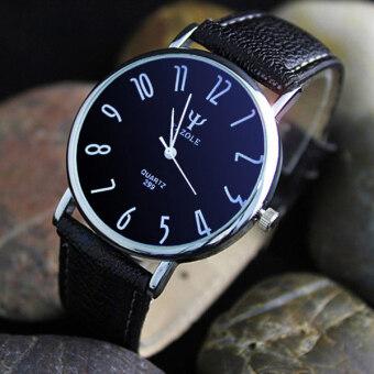 ธุรกิจสันทนาการ Easybuy คนรักนาฬิกาควอทซ์กันน้ำโต๊ะเข็มขัดหนังสีดำ