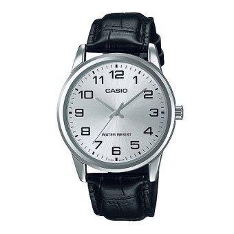 Casio Standard นาฬิกาผู้ชาย สายหนัง รุ่น MTP-V001L-7BUDF - Black