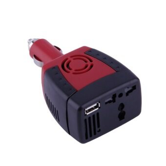 Harga YKS New 150W Car Power Inverter Charger Adapter 12V DC To 110V AC USB 5V