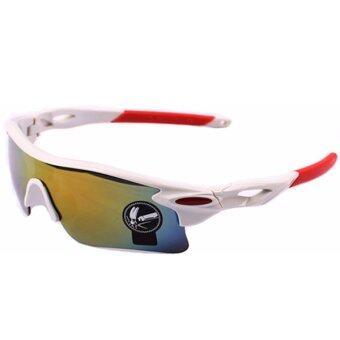 Sanwood จักรยานกีฬาการป้องกันยูวีแว่นขาว