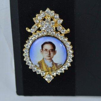 Pearl Jewelry เข็มกลัดในหลวง No.6 งานไทยคุณภาพเลิศ(Gold)