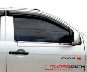 TFP เส้นขอบหน้าต่าง (Window Edge) (โครเมี่ยม) / Isuzu D-Max All New 2012 (OPEN CAP)