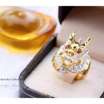 ManeeNopparut มณีณพรัช แหวนทอง (ชาย) หัว มังกร รุ่น RM025