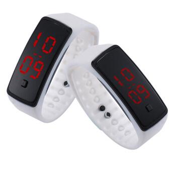 PA-HY LED นาฬิกาแฟชั่นกีฬาบุคลิกภาพรัดซิลิโคนขาว 802111 (จัดส่งฟรี)