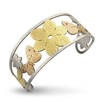 555jewelry Stainless Steel Bangle กำไล ผู้หญิง รุ่น FSBG134-MT (สี Multicolor)