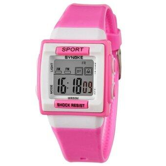 ขายเสื้อกีฬากลางแจ้งแบบสบาย ๆ นาฬิกาข้อมือนาฬิกาเด็กนาฬิกากันน้ำ 66188 (สีชมพู)